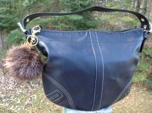Beaver Fur Pom Pom Keychain