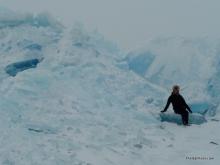 Stacked Ice On Lake Michigan Winter 2014